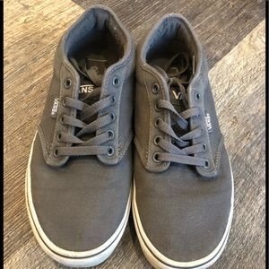 Vans Unisex Shoes Atwood Canvas  Gray White Size 8